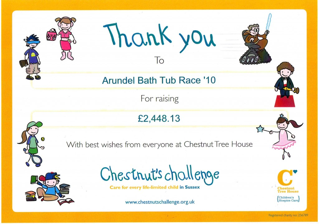 Chestnut Tree House certificate