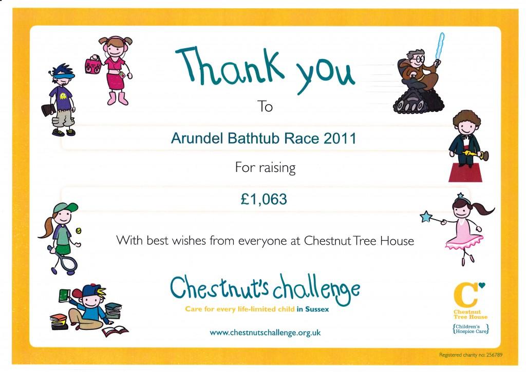 Chestnut Tree House Certificate 2011